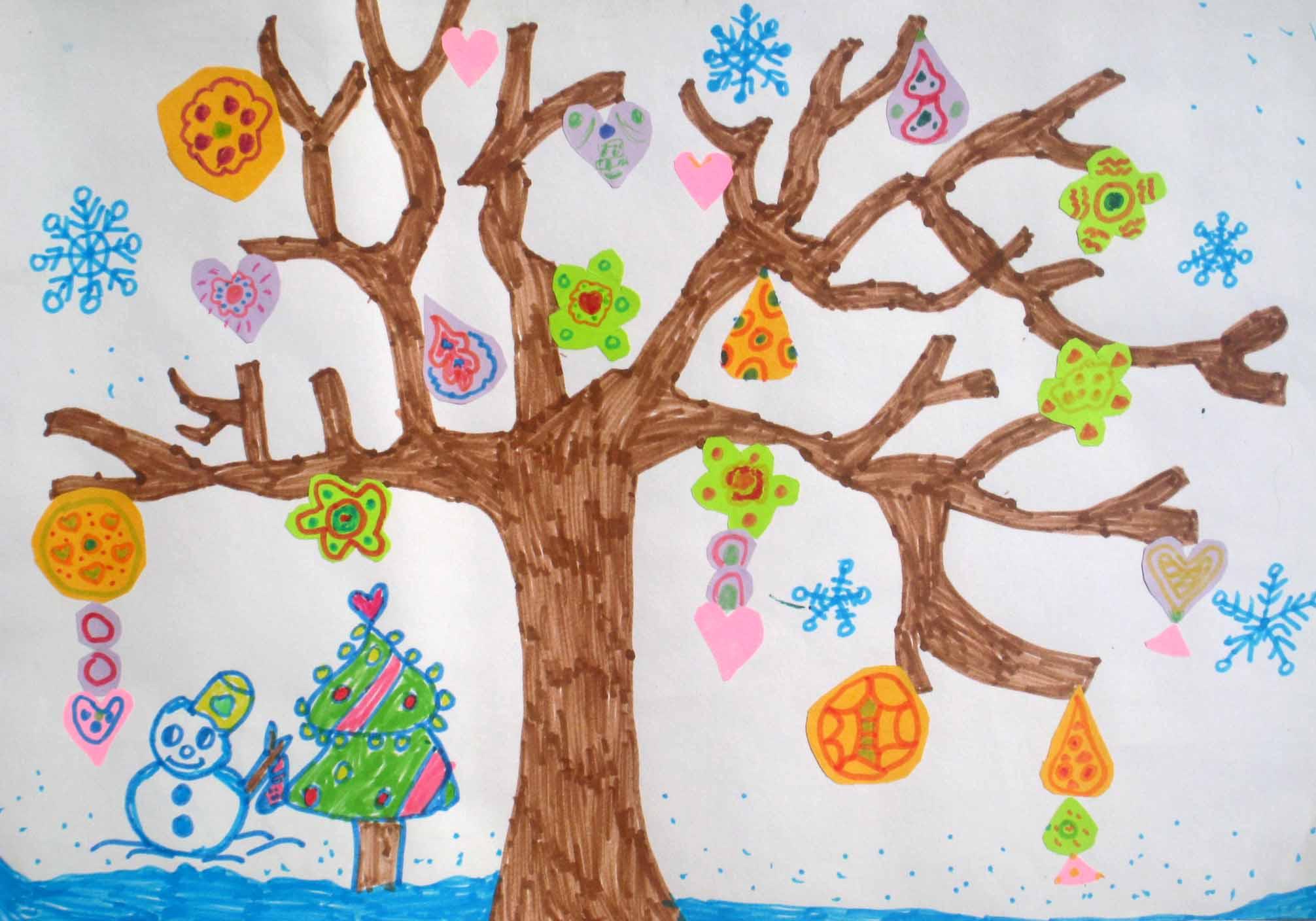 五彩树 傅绕9岁 中国